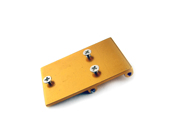 Gold Metal Battery Plate Mount