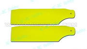 450 Pro Tail Rotor Blades Fluorescent Yellow