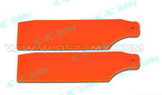 450 Pro Tail Rotor Blades Fluorescent Orange