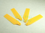 4 X 480  Tail Rotor Blades / Yellow