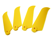 4 X Plastic Tail Blades Yellow
