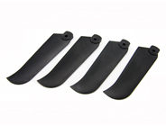 4 X Plastic Tail Blades Black